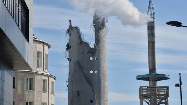 Wysadzenie 220-metrowej wieży w Jekaterynburgu - Sputnik Polska