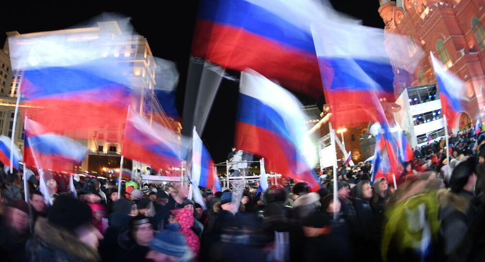 Koncert w Moskwie poświęcony rocznicy połączenia Krymu z Rosją