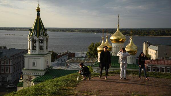 Widok na Сerkiew św. Jana Chrzciciela w Niżnym Nowogrodzie - Sputnik Polska