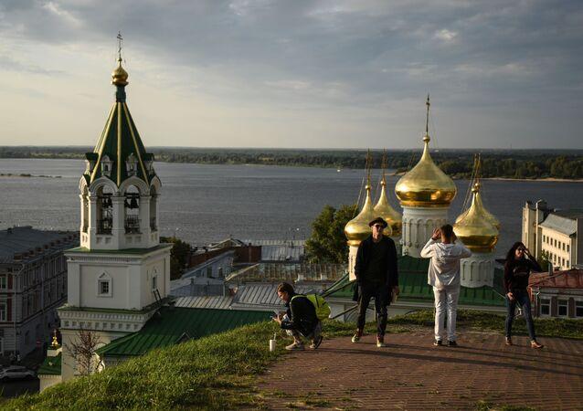 Widok na Сerkiew św. Jana Chrzciciela w Niżnym Nowogrodzie