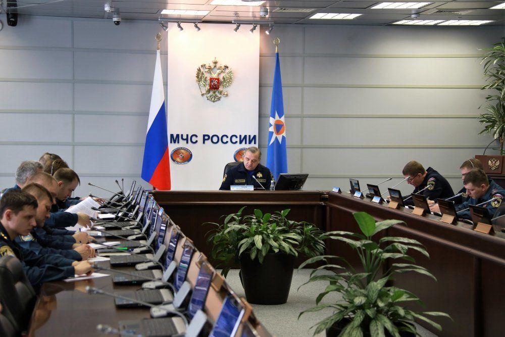 Zebranie komisji rządowej do rozwiązywania sytuacji kryzysowych w związku z pożarem w Kemerowo