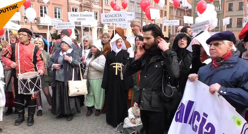 Marsz ateistów w Warszawie