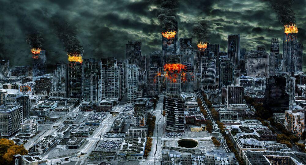 Obraz przedstawiający katastrofę światową