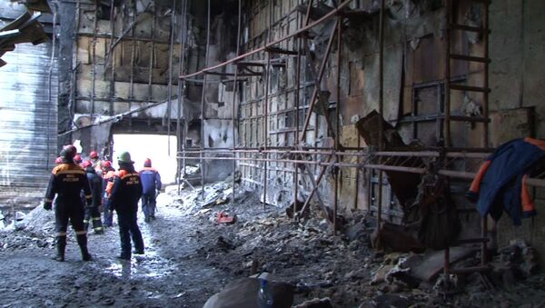 Centrum handlowe w Kemerowie po pożarze - Sputnik Polska