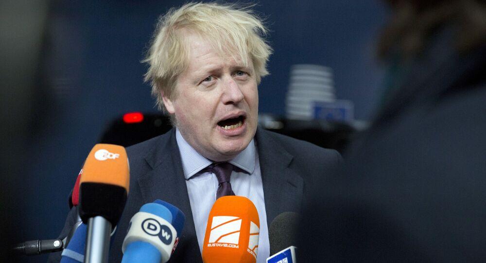 Minister spraw zagranicznych Wielkiej Brytanii Boris Johnson