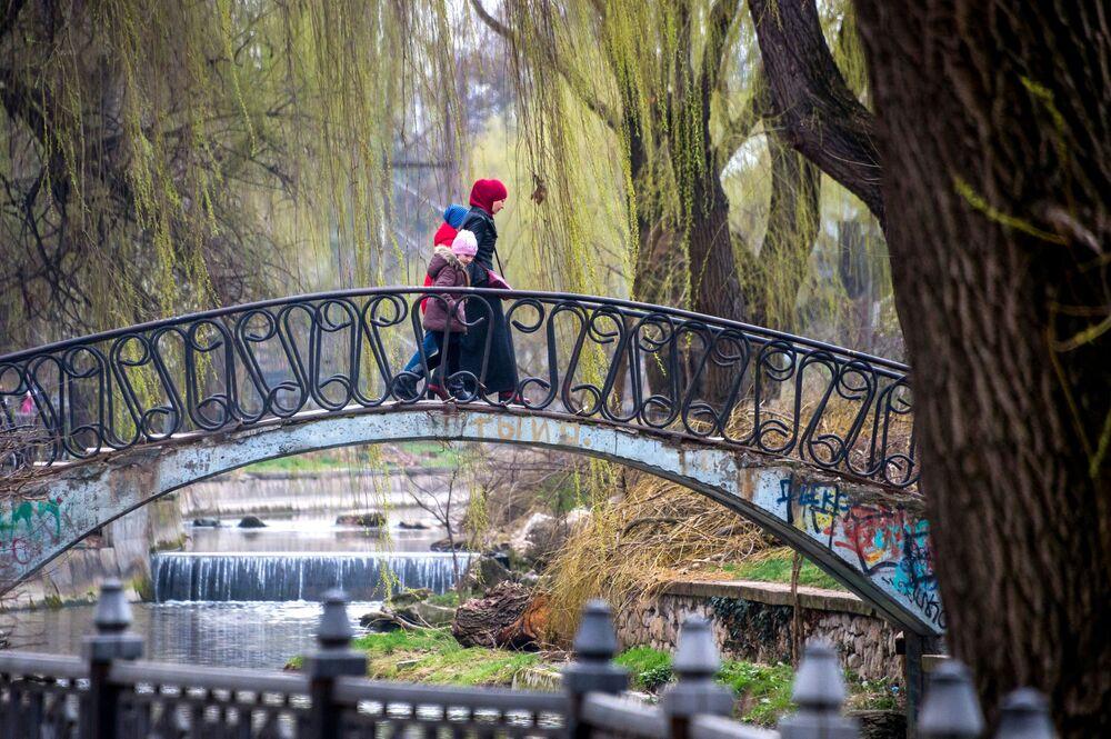 Most przez rzekę w Symferopolu