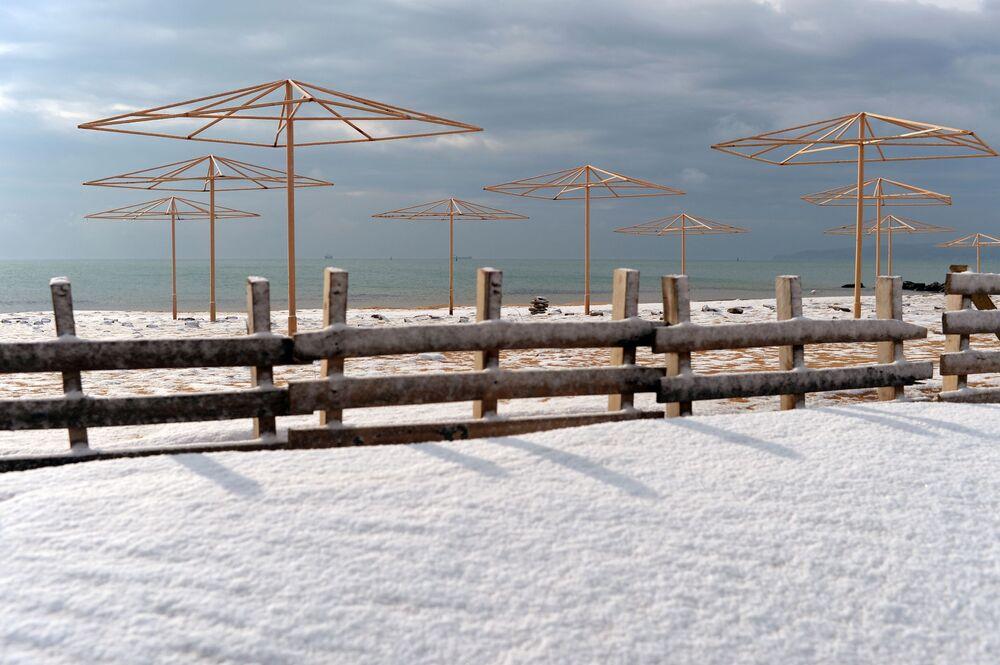 Plaża w Teodozji