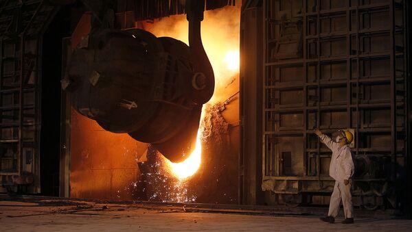Fabryka stali w chińskim mieście Jiangyin. Zdjęcie archiwalne - Sputnik Polska