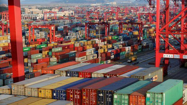 Chiński port morski Yangshan - Sputnik Polska
