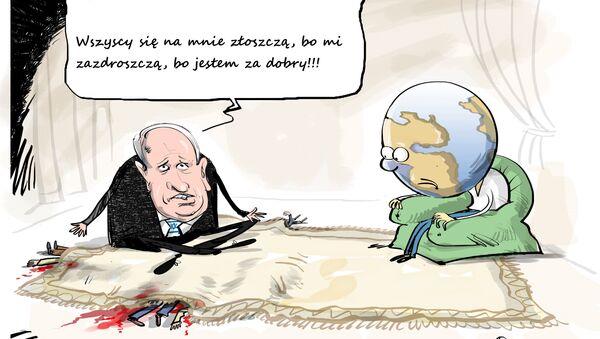 Izraelski premier nie lubi krytyki - Sputnik Polska
