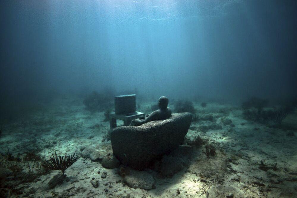 Rzeźba w Narodowym Parku Morskim w Meksyku