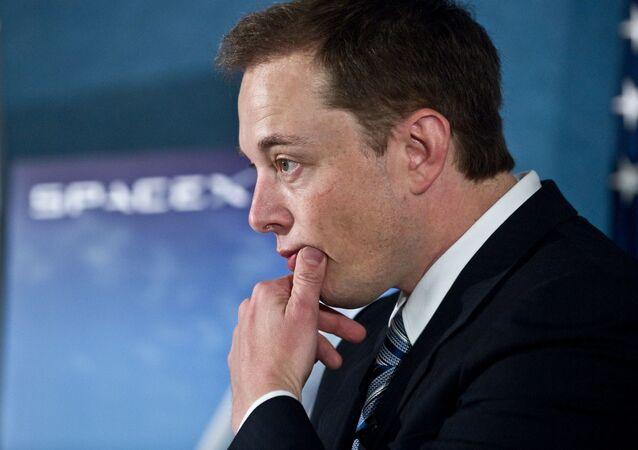 Przedsiębiorca i założyciel SpaceX Elon Musk