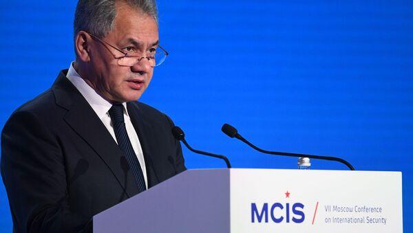 Minister obrony Rosji Siergiej Szojgu na VII Moskiewskiej Konferencji Bezpieczeństwa Międzynarodowego - Sputnik Polska