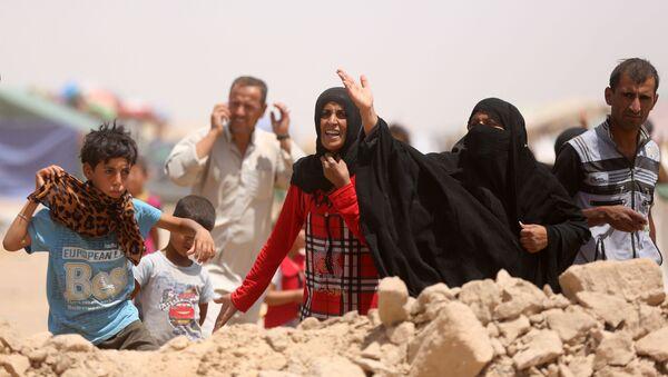 Mieszkańcy miasta Ramadi w obozie dla uchodźców w Iraku. Zdjęcie archiwalne - Sputnik Polska