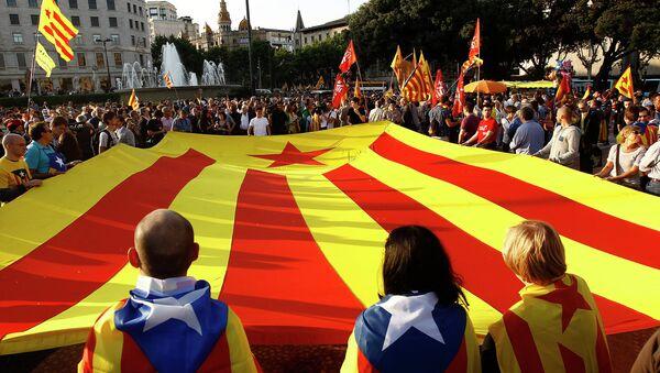 Zwolennicy niepodległości Katalonii - Sputnik Polska