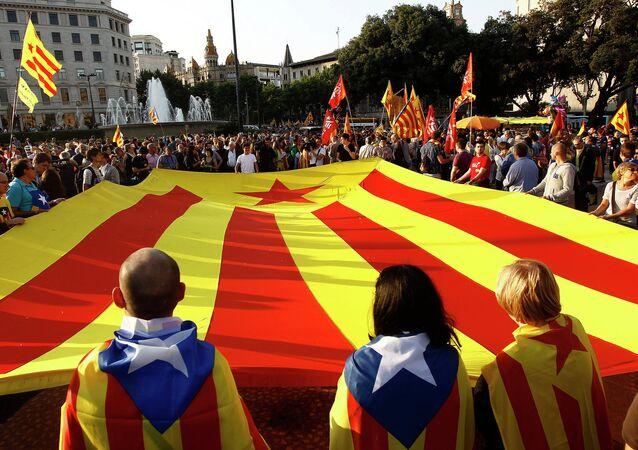 Zwolennicy niepodległości Katalonii