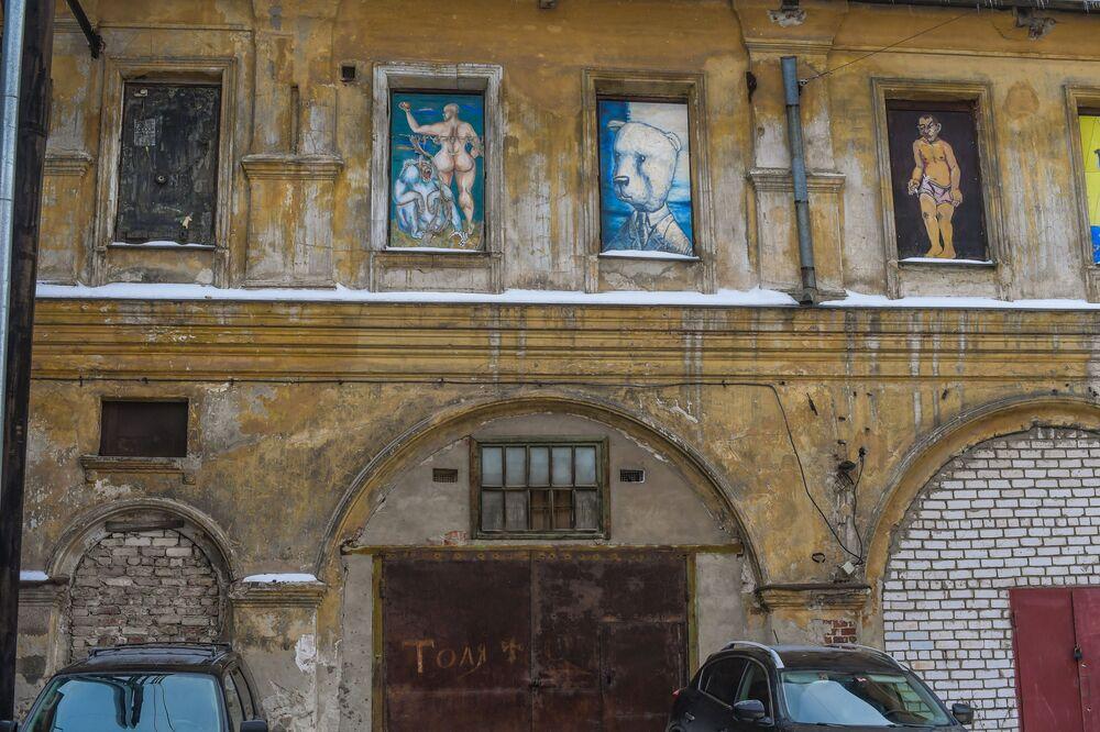 Dom w jednym z dziedzińców w Niżnym Nowogrodzie
