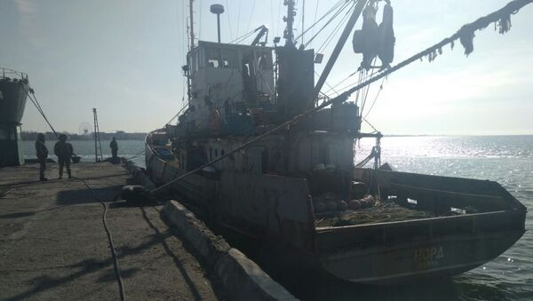 """Aresztowany statek rybacki """"Nord"""" w ukraińskim akwenie Morza Azowskiego - Sputnik Polska"""