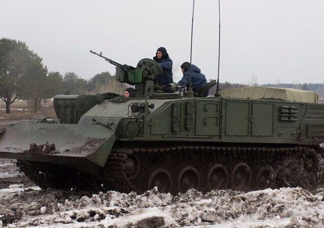 Ukraiński pojazd opancerzony przeznaczony do prac remontowych i operacji ewakuacyjnych (BREM) Atlet