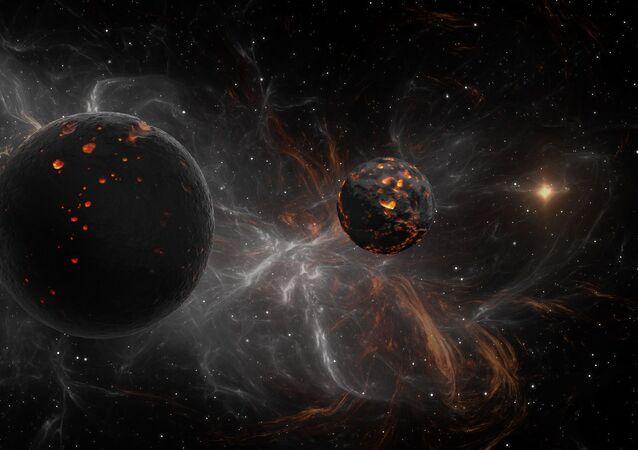 Dwie ciemne planety w kosmosie