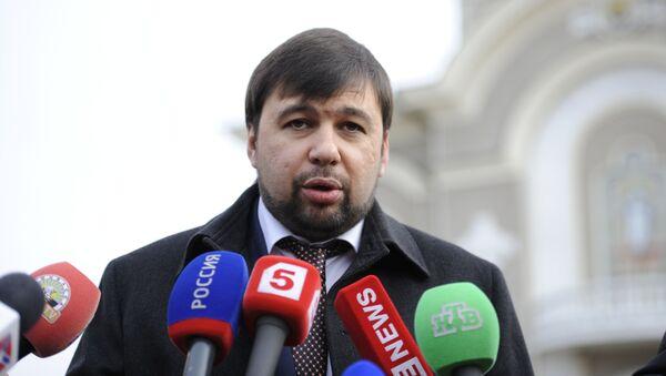 Wiceprzewodniczący Radu Ludowej Donieckiej Republiki Ludowej Denis Puszylin - Sputnik Polska
