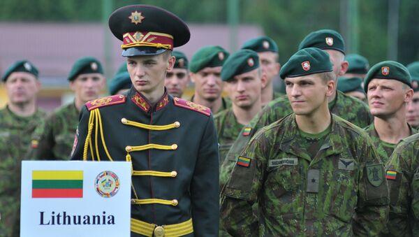 Litewscy żołnierze na Ukrainie - Sputnik Polska