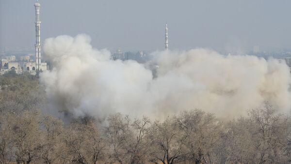 Ataki na pozycje terrorystów w mieście Duma - Sputnik Polska