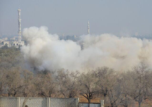 Ataki na pozycje terrorystów w mieście Duma