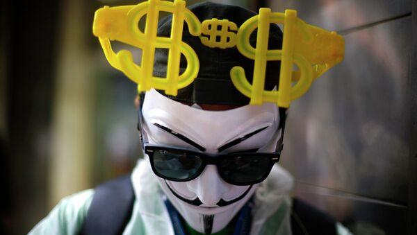 Maska Anonymous - Sputnik Polska