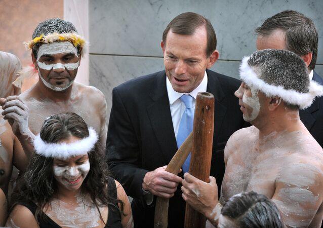 Były premier Australii Tony Abbott i Aborygeni