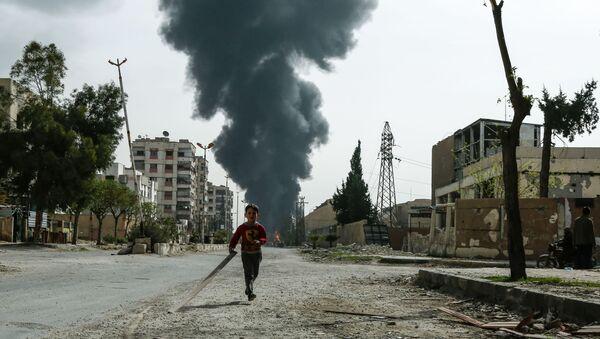 Syryjskie miasto Duma po ataku lotniczym - Sputnik Polska