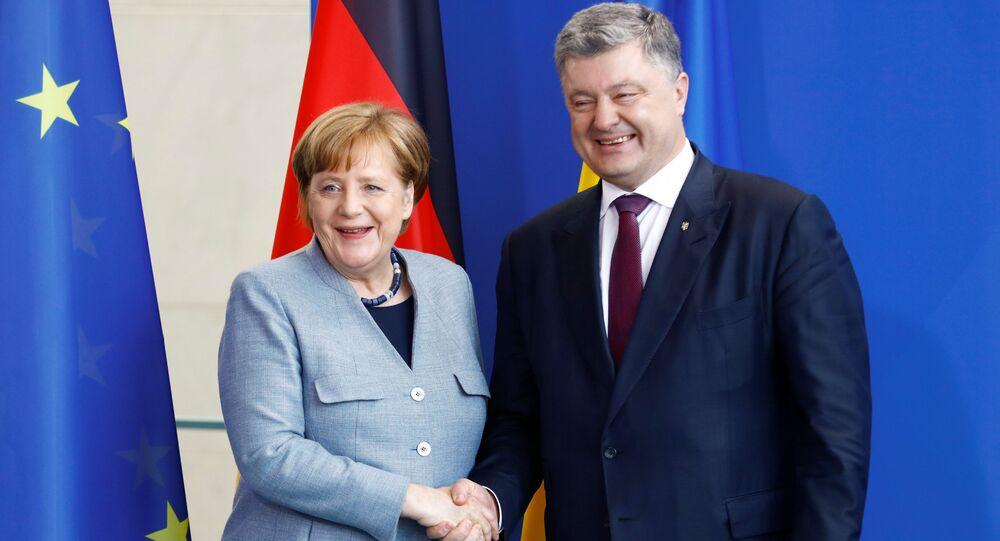Kanclerz Niemiec Angela Merkel i prezydent Ukrainy Petro Poroszenko w Berlinie