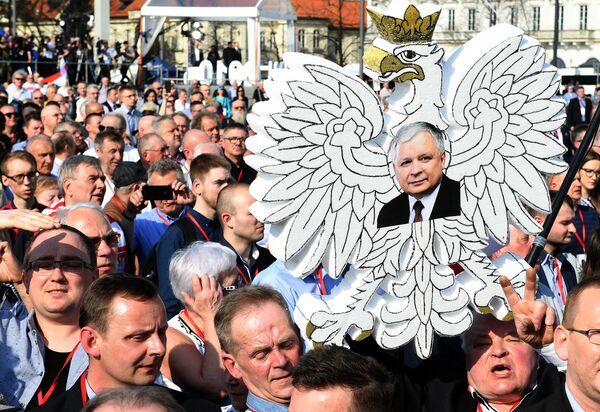 Obchody rocznicy katastrofy smoleńskiej - Sputnik Polska