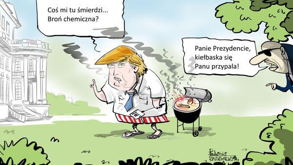 Jakiś atak chemiczny, ale nie wiem co, jak i czym - Sputnik Polska