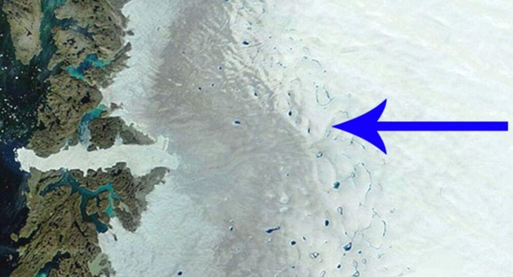 """""""Ciemna strefa na pokrywie lodowej w Grenlandii"""