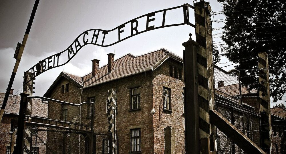 Teren byłego obozu w Oświęcimiu