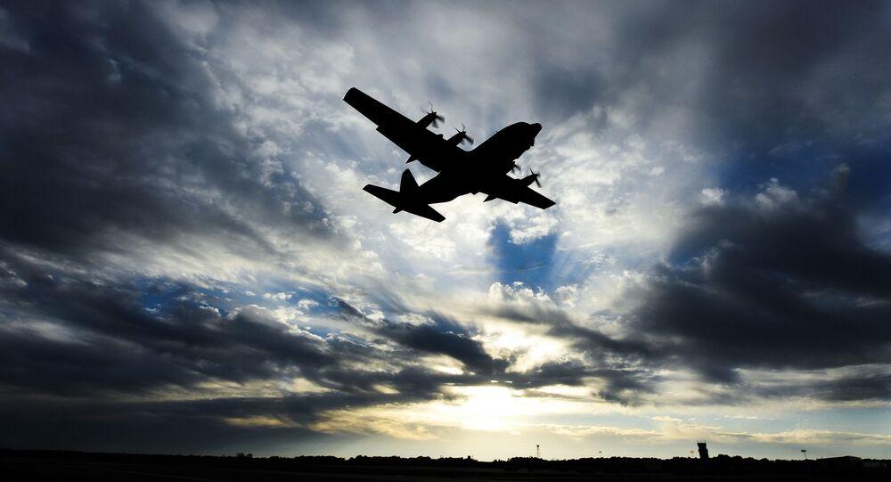 Samolot transportowy S-130 Hercules amerykańskich sił powietrznych
