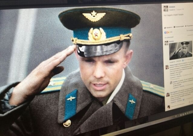 Jurij Gagarin w kolorze