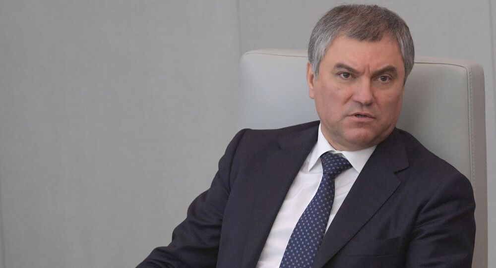 Przewodniczący Dumy Państwowej Wiaczesław Wołodin