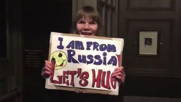 Akcja Rosjanki w Londynie - Sputnik Polska