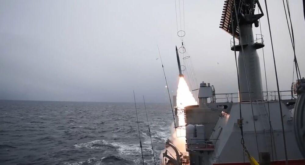 """Krążownik rakietowy Floty Północnej """"Marszałek Ustinow"""""""