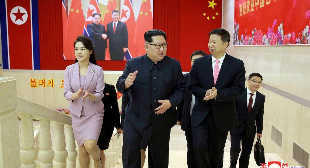Kim Dzong Un spotkał się z Songiem Tao, szefem wydziału międzynarodowego Komitetu Centralnego Komunistycznej Partii Chin