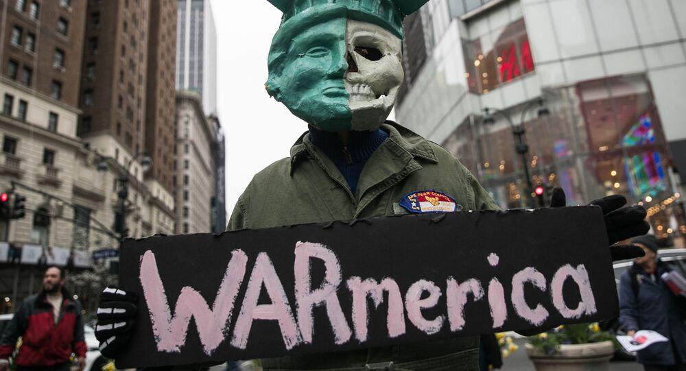 Protesty przeciwko bombardowaniu Syrii, Nowy Jork