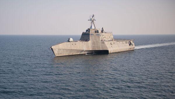 Amerykański okręt walki przybrzeżnej USS Independence - Sputnik Polska