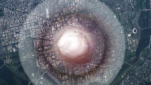 Naukowcy z Politechniki Wirginii zwizualizowali wybuch bomby jądrowej w centrum Waszyngtonu. - Sputnik Polska