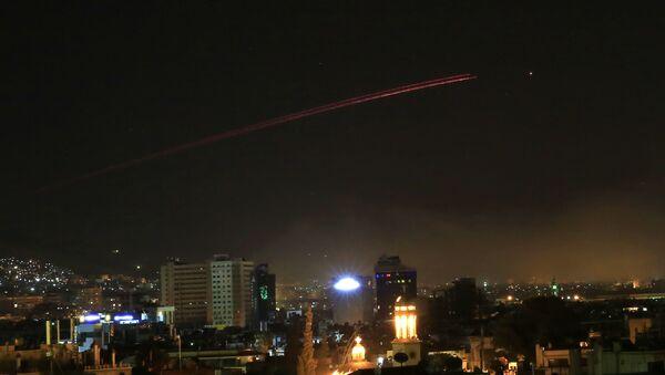 Nocne ataki USA, Francji i Wielkiej Brytanii na Damaszek, Syria - Sputnik Polska