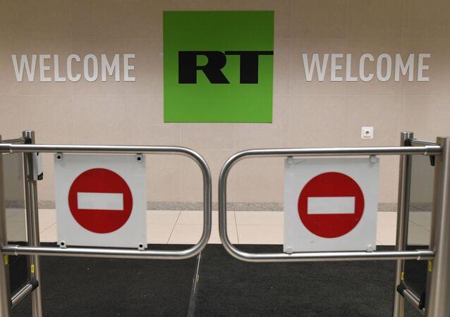 Biuro stacji Russia Today w Moskwie
