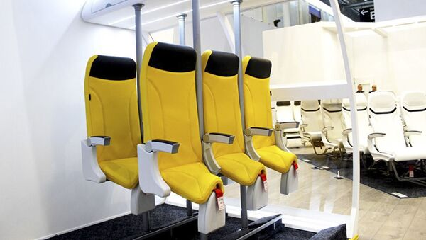 Miejsca stojące Skydiver 2.0 firmy Aviointeriors - Sputnik Polska