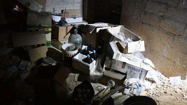 Chemiczne laboratoria terrorystów w syryjskiej Dumie - Sputnik Polska