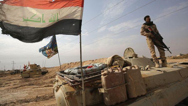 Iraccy wojskowi na pozycjach przy syryjskiej granicy. Zdjęcie archiwalne - Sputnik Polska